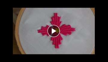 Hand Embroidery: Kadai kamal Stitch (Flowers)
