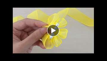 Amazing Ribbon Flower Work - Hand Embroidery Flowers Design - Sewing Hacks - Easy Flower Making