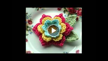 crochet flower patterns on pinterest