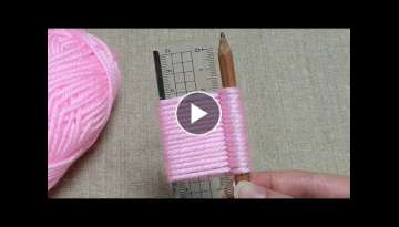 Awesome Flower Craft Ideas with Woolen - Hand Embroidery Trick - Sewing Hack - Easy Wool Flower