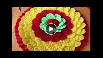 How to make doormats using waste clothes - DIY doormats making idea