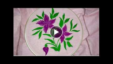 Hand embroidery variation of Romanian stitch( shefali stitch)