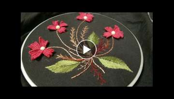 Hand embroidery easy and beautiful 3D Brazilian embroidery