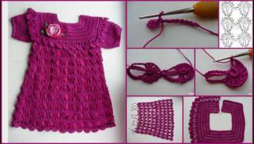 Step by Step Crochet Work Dress Making