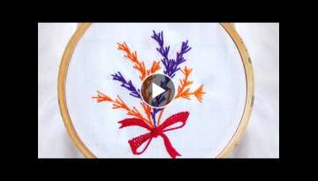 Hand Embroidery: Fern Stitch Variation