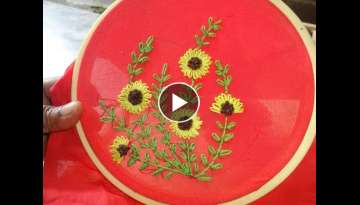 Hand embroidery: Lazy Daisy Stitch Flower Designs By Amma Arts