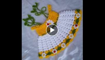 Easy Crochet Baby Dress - Daisy Dress Model - Cute - Soft