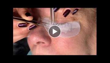 Russian Volume Eyelash Extensions for Hooded Eyes Using Premade fans