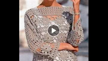 tutorial crochet blusa flores how to do bluse (subtitles in several lenguage)