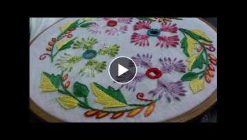Hand embroidery tutorial - embroidery designs. cut work, rhodes stitch