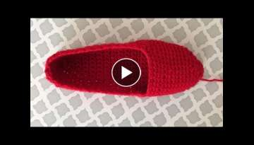 How To Crochet Slippers, Lilu's Handmade Corner Video # 169