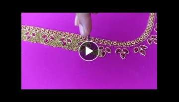 Paniya Embroidery Work slow motion video