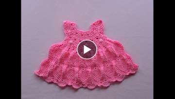 Crochet baby dress/tutorial/pinky pie crochet baby dress part 1