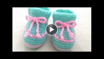 Knitting Baby Shoes , Socks , Booties , Boots
