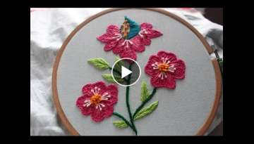 Hand Embroidery Designs | Beautiful Flower Design | Stitch and Flower-143