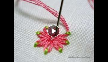 Embroidery Stitches Flowers - Stitch Fun Daisy Stitch in Two Colors