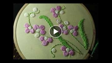 Hand embroidery designs | Satin stitch | Stitch and Flower-119