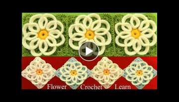 Como tejer a Crochet punto de flores filigrana tejido facil How to Crochet