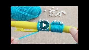 Amazing Flower Craft Ideas with Woolen - Hand Embroidery Hack - Amazing Trick - DIY Woolen Flower...