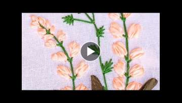 Hand Embroidery | Flower Pattern with Ribbon, Cotton Floss Threads | HandiWorks #85