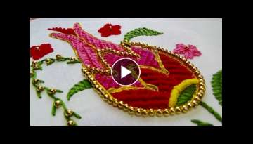 Hand Embroidery: Flower embroidery