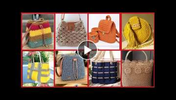 Fabulous Hand Made Crochet Bags Designs Ideas//Classy Crochet Patterns For Hand Bags