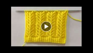 Lovely Knitting Stitch Pattern For Sweater/Cardigan/Jacket