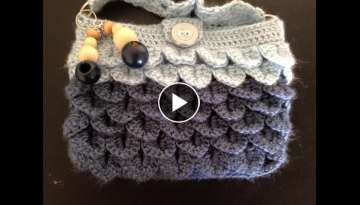 Crocodile stitch purse/mobile pouch/handbag crochet - Tamil/English