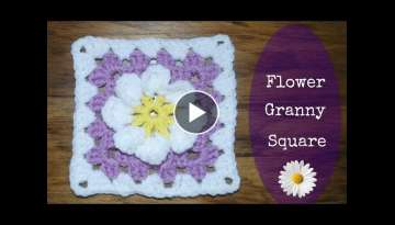 Flower Granny Square Crochet Tutorial - Crochet Jewel