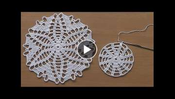 CROCHET doily Tutorial Pattern Crochet Motif How to crochet doily Part 1
