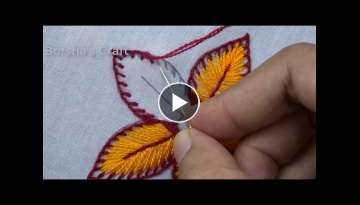 Amazing Flower Hand Embroidery - Easy Flower Embroidery Tutorial for Beginners - bordado para flo...