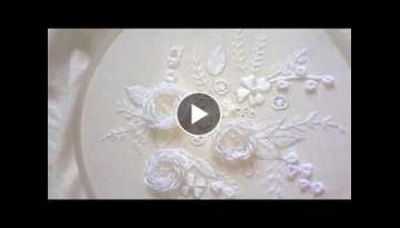 Hand embroidery designs - Hand embroidery stitches - White work embroidery
