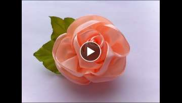Decoration on a hairpin Kanzashi / Peach Rose / Kanzashi Rose