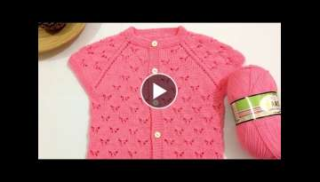 How to Make Baby Vest with Butterfly Knitting Pattern? (Narration from Start to End) Valentine's ...