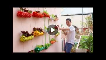 Clever Plastic Bottle Vertical Garden Ideas, Gardening Ideas for home