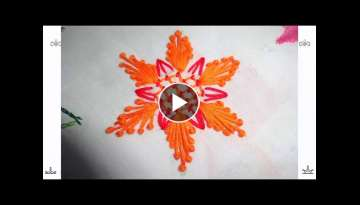 Hand Embroidery Flower Design: Bullion knot Stitch by Amma Arts