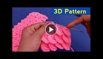 DIY 3D Crochet Pattern Design-Latest 3D Design 2021