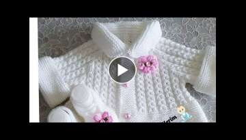 Hand knitting Woollen baby sweater design