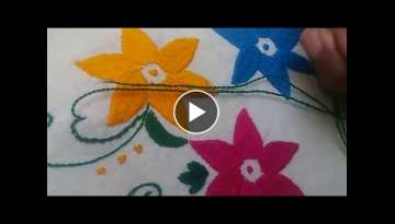 Hand Embroidery: Bharwaan Tankka/ The house stitch Part-2