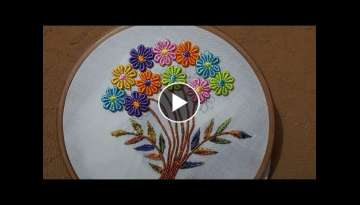 hand embroidery flower designns hand stitch beautiful embroidery