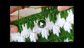 Perfect with green and white plane leaf vest fiber model crochet knitting