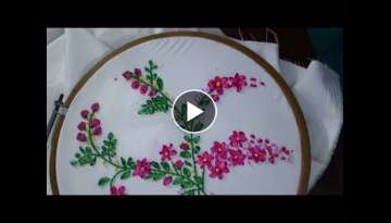 Ribbon embroidery tutorial.