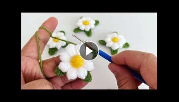 Multi-purpose flower making Crochet flower making Puff fiber flower Daisy making