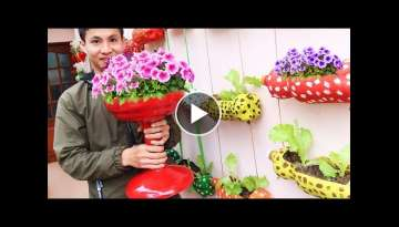 Recycle Mineral Water Bottle Into Beautiful Flower Pot For Your Small Garden