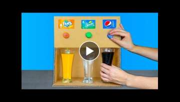 AMAZING SELF-MADE SODA FOUNTAIN MACHINE MADE OF CARDBOARD