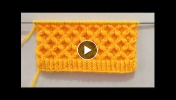 Beautiful Flower Knitting Stitch Pattern For Gents/Ladies Sweater
