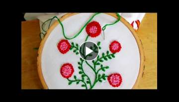 Hand Embroidery: French Knot Flowers Stitch (Plus Vines)