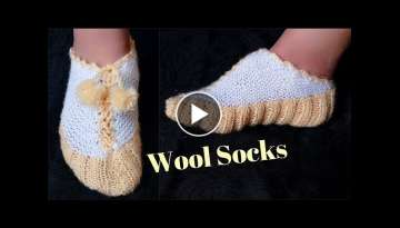 Easy Socks Design with knitting
