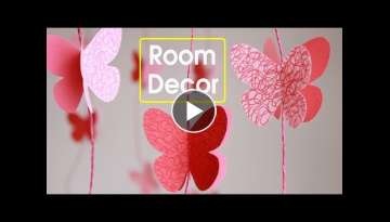 DIY -Butterflies Wall-Room Decor || Make Paper Butterflies|| Easy Paper Crafts