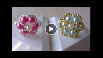 ANILLOS PERLA EN COLOR PASTEL-RINGS PEARLS PASTEL COLOR